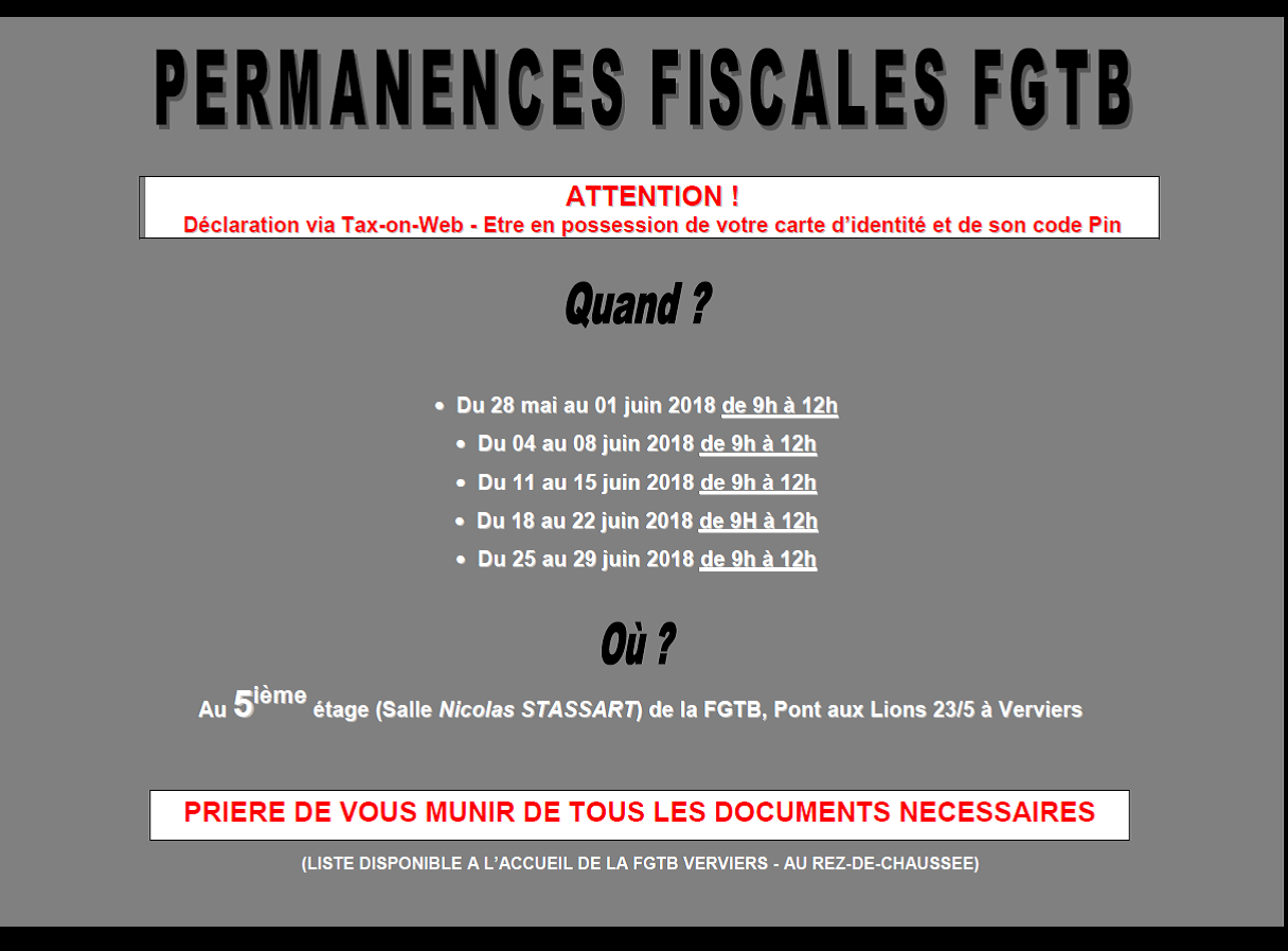 Permanence Fiscale 2018 1